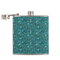 Turquoise crushed Glass Flask