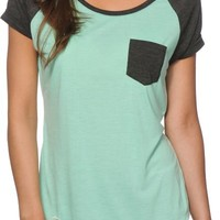 Zine Bartlett Mint & Charcoal T-Shirt