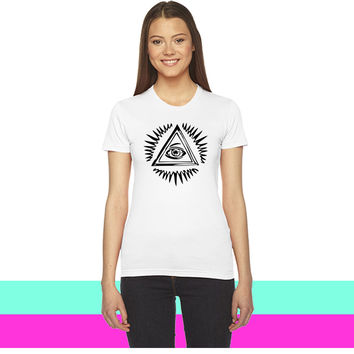 luminated eye_ women T-shirt