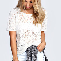 Bessie Oversized Burnout T-Shirt