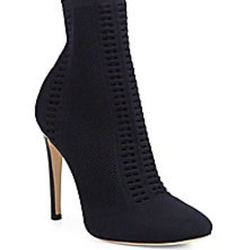 Gianvito Rossi - Vires Cuissard Knitted Ankle Boots<br> - Saks Fifth Avenue Mobile