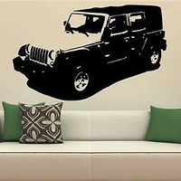 JEEP WRANGLER Jeeping Love Jeep Sahara Wall Art Sticker Decal 1555