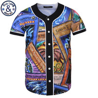 Summer Men's 3D Print Baseball Shirts Game Lord OF D Funny Hip Hop S-XXXL