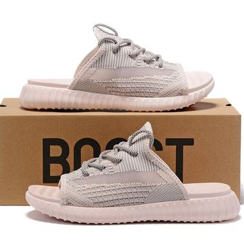 adidas Yeezy 350 V2 Synth Reflective Sandals Slippers Sliders Summer Shoes Flip Flop - Best Deal Online