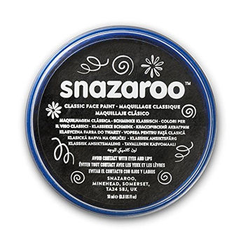 Snazaroo Classic Face Paint, 18ml, Black