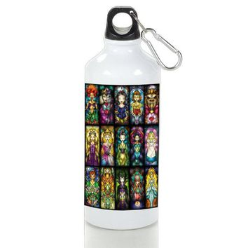 Gift Sport Bottles | Princess Character From Disney Stained Glasses Aluminum Sport Bottles