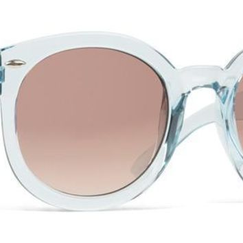 Dot Dash - Pool Party Crystal Blue Gloss Sunglasses / Brown Gradient Lenses