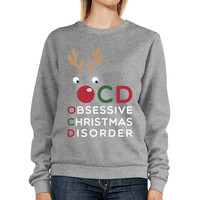 OCD Obsessive Christmas Disorder Sweatshirt Pullover Fleece Sweater