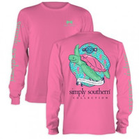 Simply Southern Pink Sea Turtle Long Sleeve Tee