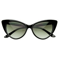 Celebrity Hot Tip Pointed Cat Eye Sunglasses 8371