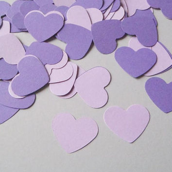 ultra violet 100 wedding confetti purple lilac 1 inch paper heart table decor baby shower bridal diy bachelorette hen party lasoffittadiste