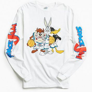 Space Jam Long Sleeve T-shirt - Urban Outfitters