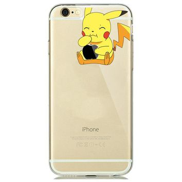 Various Cartoon Character Transparent Silicone Cases for iPhone 5-8 Plus