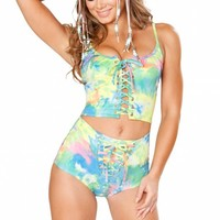 Tie Dye Lace Up Bottoms