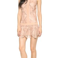Twelfth St. by Cynthia Vincent T Back Lace Mini Dress