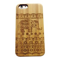 iPhone 6S Case,VIVIPOW [NatureWOOD Series]Lace Elephant Pattern iPhone 6s And iPhone 6,Cute Baby Elephant phone case for iPhone 6 And 6S 4.7""