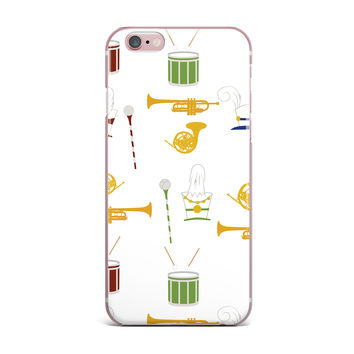"Stephanie Vaeth ""Marching Band"" Gold Illustration iPhone Case"