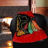 Chicago Blackhawks 50'' x 60'' Red-White-Black Jersey Series Royal Plush Blanket Throw