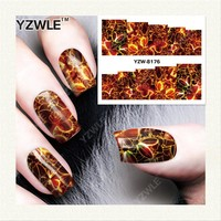YZWLE 1 Sheet DIY Nails Art Deals Water Transfer Printing Stickers Accessories For Manicure Salon