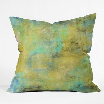 Allyson Johnson Yellow Paint Throw Pillow
