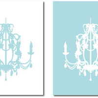 Chandelier Silhouette Duo  Set of two prints  8x10 by karimachal