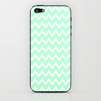Mint Green Zigzag Stripes iPhone Case iPhone & iPod Skin by productoslocos | Society6