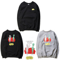 Women & Men RIPNDIP  Round-neck Pullover With Pocket Hoodies [9273769671]