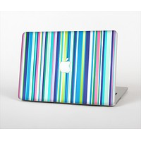 The Vibrant Colored Stripes Pattern V3 Skin Set for the Apple MacBook Pro 15""