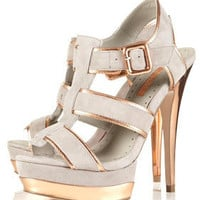 LIMBO Suede Strappy Platforms - Heels - Shoes - Topshop USA