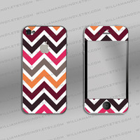 iphone 4 4s skin - Chevron colour pattern