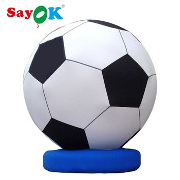 3m(10ft) High Outdoor Inflatable Soccer Ball Inflatable Football Model for World Cup Football Match Decoration
