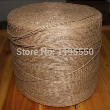 200yards 2mm Thin 3shares rope, Natural Jute Twine Cord DIY/Decorative Handmade Accessory Hemp Jute Rope For Papercrafting