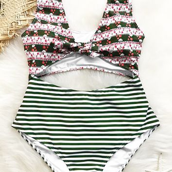 Cupshe Smiling Eyes Lace Up One-piece Swimsuit
