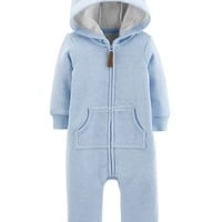 Dog Hooded Fleece Jumpsuit