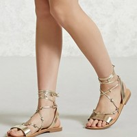 Star Accent Ankle-Wrap Sandals