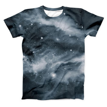 The Space Marble ink-Fuzed Unisex All Over Full-Printed Fitted Tee Shirt