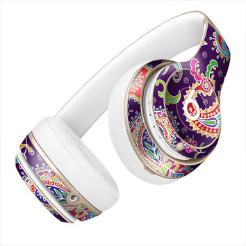 Multicolored Purple Paisley Background Skin for the Beats By Dre Headphones