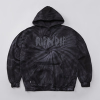 Flatspot - Rip N Dip Acid Wash Hooded Sweatshirt Black