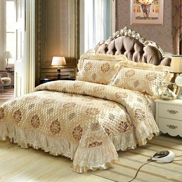 100% Cotton Washed Europe type jacquard  13 style 3/piece Bed Cover set High end Bedclothes bedding set bedspread