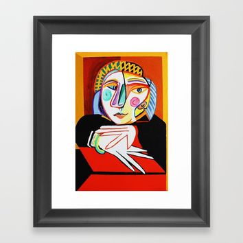 WOMAN BY THE WINDOW Framed Art Print by NORASHEPLEY1234
