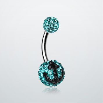 Anchor Dock TIffany Inspired Sparkle Ferido Belly Ring
