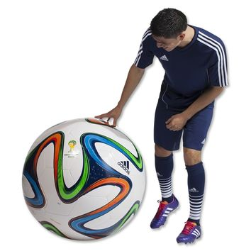 adidas 2014 Brazuca World Cup Jumbo Ball (White/Night Blue/Multicolor) - WorldSo