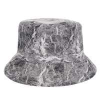 New Fashion Flat Bucket Hat Men Women 3D Printed Marble Bob Outdoor Beach Hunting Fishing Hip Hop sombrero pescador Panama Girls