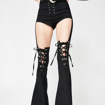 Moto Siren Lace-Up Chaps