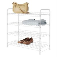 Whitmor 6023-4139-cb Storage Rack - 4 Tier[s] - Resin - White - Walmart.com