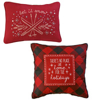 December to Remember Winter Lodge Holiday Pillow Set