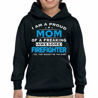 Firefighter Mom - Mothers Day - Mother's gift Youth Hoodie