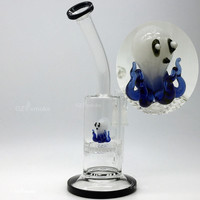 Two Functions heady Glass water pipes bongs Cute Animal Funny Octopus Colorful bong Honeycomb wheels Oil Rigs dab rig heady beaker