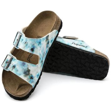 Sale Birkenstock Arizona Soft Footbed Birko Flor Pixel Blue 1005924 Sandals