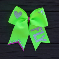Glitter Fly Bow